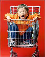 Child in trolley